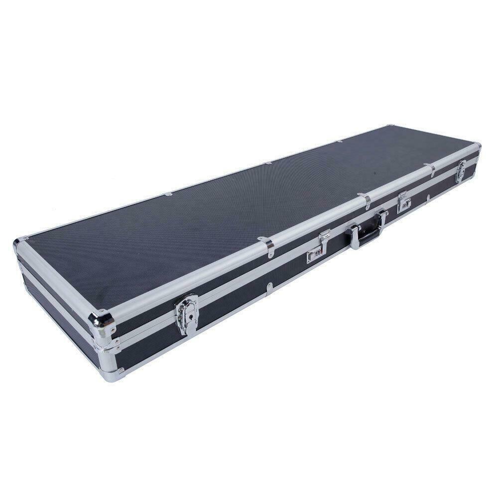 53″ Rifle Shotgun Hard Carrying Case Aluminum Framed Lock Box Safe Storage New
