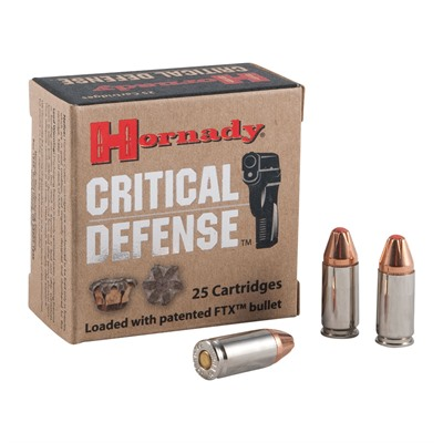 "Hornady Critical Defense Ammo 9mm 115Gr FTX 250 Rnd – $205.94 shipped with code ""TAG"""