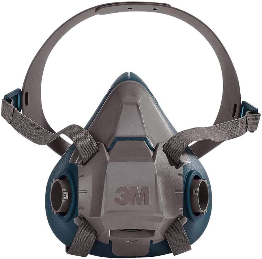 3M 6502 6500 Series Respirator with 4 Point Harness and Bayonet Connection, English, 15.34 fl. oz, Plastic, 8″ x 7.2″ x 4″