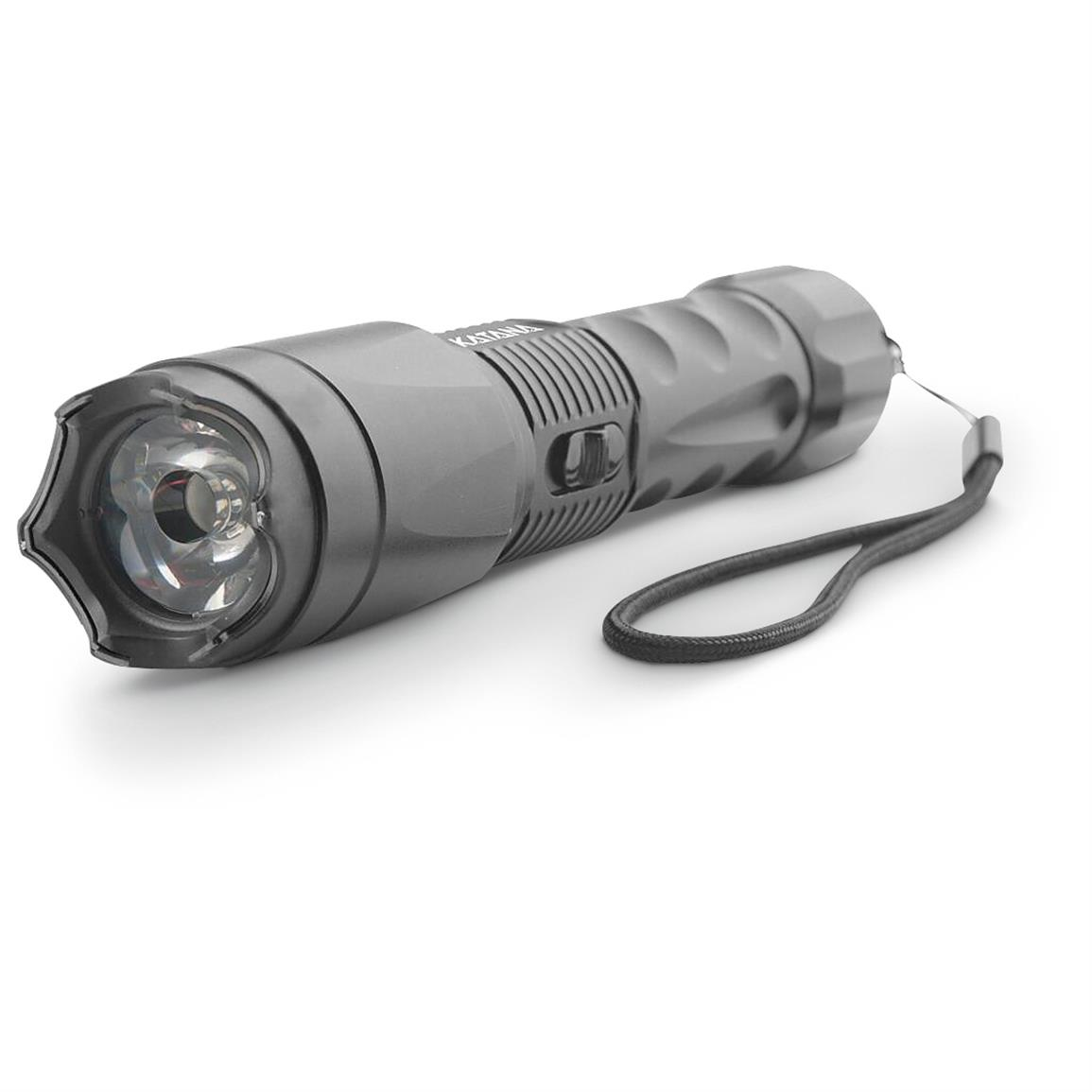Guard Dog Katana Tactical Flashlight with Stun Gun and Tail Cap Striker