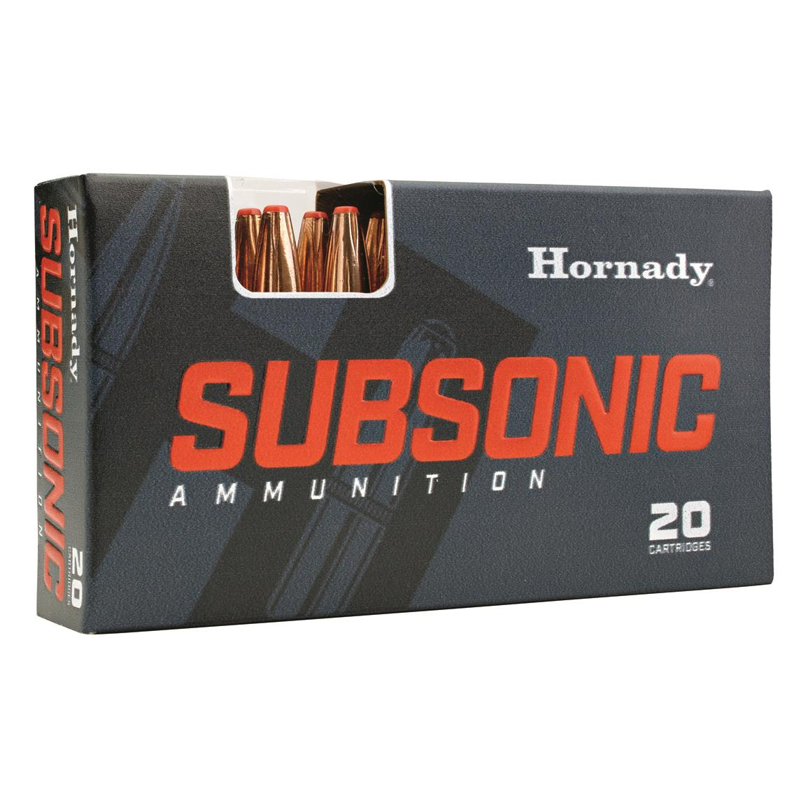 NEW! Hornady Subsonic, .30-30 Winchester, Sub-X, 175 Grain, 20 Rounds