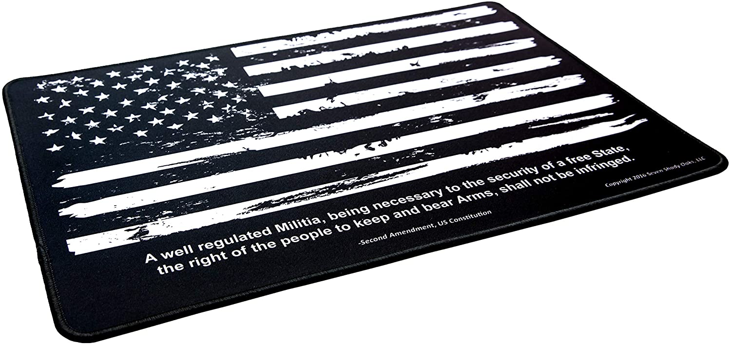 Ultimate Rifle Build- Distressed Flag Gun Cleaning Mat