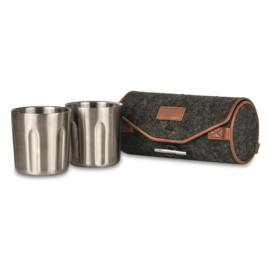 High Camp Flasks Firelight Tumbler Set, 2 Pack