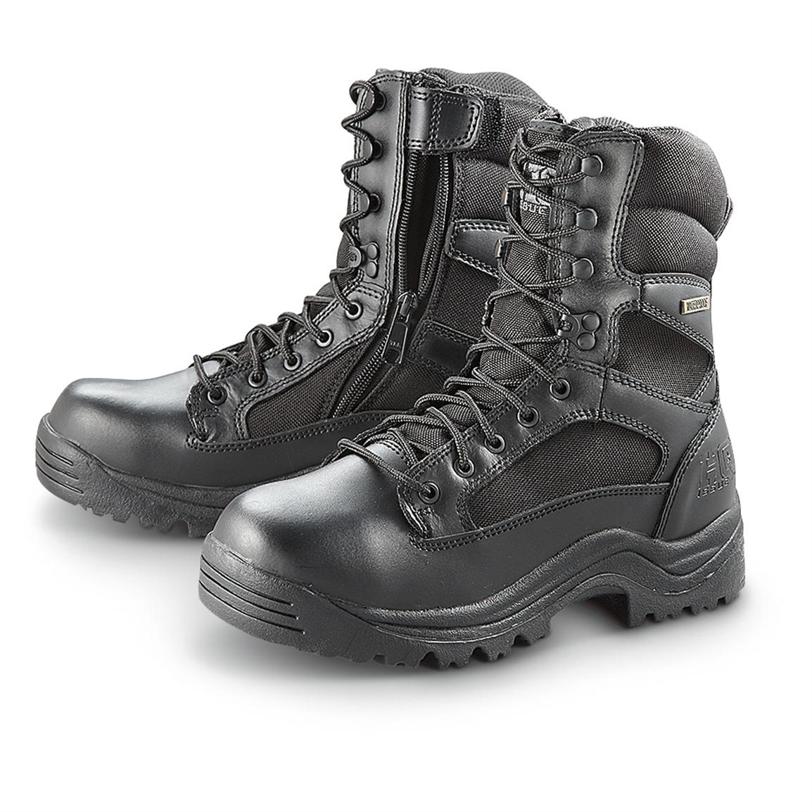 HQ ISSUE Men's Waterproof Side Zip Tactical Boots